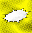 White pop art style explosion over yellow dotted vector image vector image