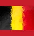 belgium flag low poly style yellow red black vector image