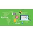 blogging stuff and for blogger vector image