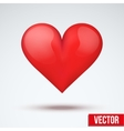 beautiful bright red heart vector image