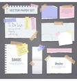 Paper Banners Set With Sticky Tape vector image