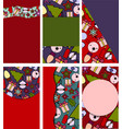 set of beautiful templates for christmas cards vector image