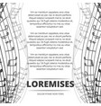 monochromic musical background poster with notes vector image