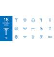 15 tie icons vector image vector image