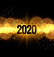 2020 new year celebration background with golden vector image vector image
