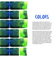 abstract watercolor background colorful bricks vector image vector image