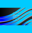 abstract wave background with blue gradient vector image vector image