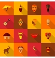 Africa icons set flat vector image vector image