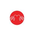 art design health medical heartbeat pulse vector image vector image
