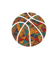 basketball pattern symbol vector image