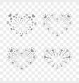 beautiful heart-fireworks set romantic salute vector image vector image