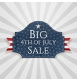 Big 4th of July Sale Badge with Ribbon vector image vector image