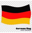 bright button with flag of germany banner vector image