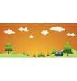camping holiday concept with bush and landscape vector image vector image