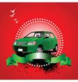 car advertising vector image