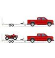 car pickup with trailer 03 vector image