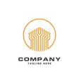 circuit logo for tech companytechnology logo vector image vector image