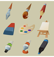 Collection of draw icons vector image vector image