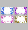 color abstract business card background set with vector image vector image