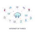 concept internet of things cloud network concept vector image vector image