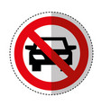 dont parking traffic sign vector image vector image