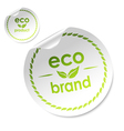eco sticker vector image vector image