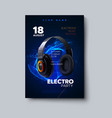 electronic music festival poster mockup vector image vector image