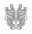 Elegant difficult curled ornamental gothic tattoo vector image vector image