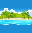 empty nature beach ocean coastal landscape vector image vector image