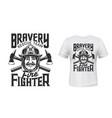 firefighter t-shirt print fireman helmet axes vector image vector image