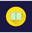 Flat diary icon vector image