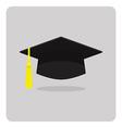 flat icon graduation cap vector image