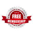 free membership button vector image vector image