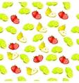 fresh strawberryand slice vector image vector image