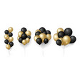 gold black balloons glittered balloon bunch vector image vector image