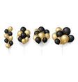 gold black balloons glittered balloon bunch vector image