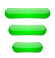 green oval buttons 3d glass menu icons vector image