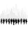group businessmen in city vector image