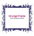 grunge frame grunge paint template eps10 vector image