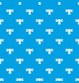 hand wrench pattern seamless blue vector image vector image