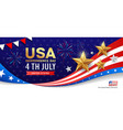 happy independence day flag usa banner design vector image vector image