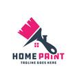 house building paint logo vector image