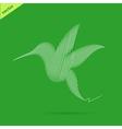 Hummingbird abstract vector image vector image