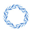 indigo blue hand drawn wreath vector image vector image