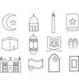 islamic icon vector image vector image