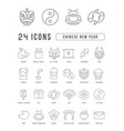 line icons chinese new year vector image