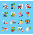 Loan Debt Flat Color Icons Set vector image