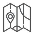 map line icon direction and location navigation vector image