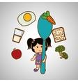 Menu Kids icon design vector image vector image