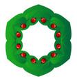 natural circular frame vector image vector image